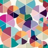 Предпосылка абстрактного геометрического вектора безшовная Стоковые Фото