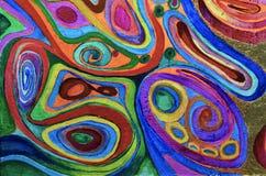 предпосылка абстрактного искусства Картина маслом на холстине Пестротканая яркая текстура Часть художественного произведения Стоковое Фото