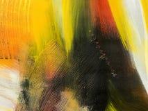 предпосылка абстрактного искусства Картина нарисованная рукой акриловая Стоковые Изображения RF