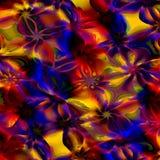 предпосылка абстрактного искусства цветастая Произведенная компьютером флористическая картина фрактали Иллюстрация дизайна цифров Стоковая Фотография RF