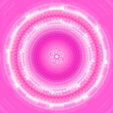 Предпосылка абстрактного розового круга техническая Стоковое Изображение RF