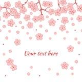 Предпосылка абстрактного романтичного вектора флористическая с ветвью Сакуры Стоковое Изображение