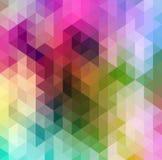 Предпосылка абстрактного треугольника геометрическая пестротканая, иллюстрация EPS10 вектора Стоковое Изображение RF
