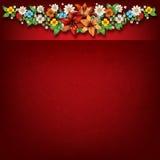 Предпосылка абстрактной весны флористическая с цветками Стоковое Изображение