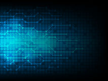 Предпосылка абстрактной технологии, линия вектор соединения Стоковые Фотографии RF