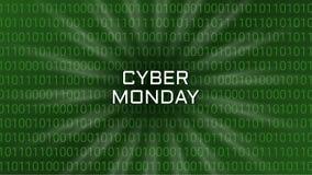 Предпосылка абстрактной технологии понедельника кибер Треска двоичной вычислительной машины иллюстрация штока