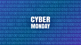 Предпосылка абстрактной технологии понедельника кибер Треска двоичной вычислительной машины Стоковое Изображение