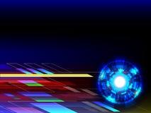 Предпосылка абстрактной технологии с космосом экземпляра Стоковые Фото
