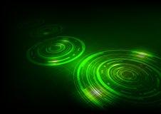 Предпосылка абстрактной технологии темная ая-зелен Стоковая Фотография RF