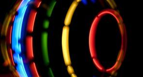 Предпосылка абстрактных красочных светов футуристическая Стоковая Фотография RF
