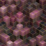 Предпосылка абстрактных кубов безшовная Стоковое Изображение