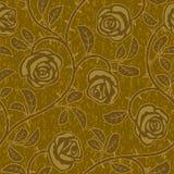 Предпосылка абстрактных цветков золота розовых безшовная Стоковая Фотография