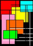 Предпосылка авангарда с яркими квадратами Стоковое Изображение
