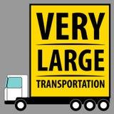 Предпосылка автомобиля неиндивидуального пользования Очень большой фургон для транспорта Стоковые Фото