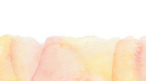 Предпосылка акварели абстрактная розовая Стоковое Изображение
