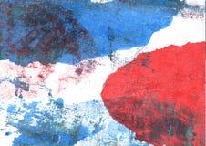 Предпосылка акварели голубых джинсов абстрактная Стоковое Фото