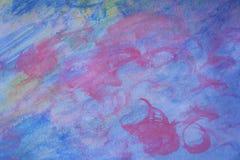 Предпосылка акварели мягкая в голубых оттенках Стоковая Фотография RF