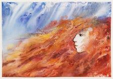 Предпосылка акварели осени Принцесса падения asama бесплатная иллюстрация