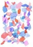предпосылка акварели с геометрической картиной Стоковое фото RF