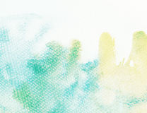 Предпосылка акварели с протекаемой краской Стоковая Фотография