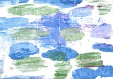 Предпосылка акварели Jordy голубая абстрактная Стоковые Фото