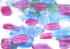 Предпосылка акварели Jordy голубая абстрактная Стоковое Фото
