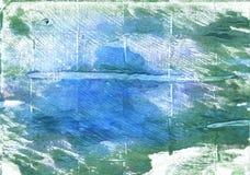 Предпосылка акварели Wintergreen мечт абстрактная Стоковая Фотография RF