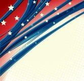 Предпосылка американского Дня независимости патриотическая иллюстрация вектора