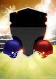 Предпосылка американского футбола Стоковое Фото