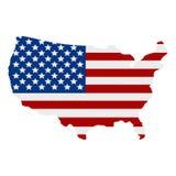 Предпосылка американского флага, иллюстрация Стоковые Изображения