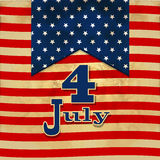 Предпосылка американского флага при звезды символизируя 4-ое июля indepen Стоковые Изображения RF