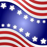 Предпосылка американского флага Стоковое фото RF