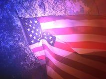 Предпосылка американского флага Стоковое Фото