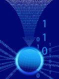 Предпосылка данных - поток технологии бинарного кода Стоковое фото RF
