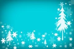 Предпосылка ландшафта зимы Стоковая Фотография RF