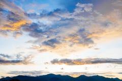 Предпосылка ландшафта неба облака Стоковое Изображение