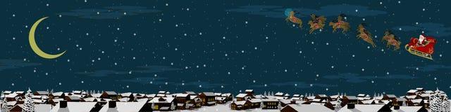 Предпосылка ландшафта рождества Стоковое Изображение RF
