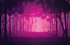 Предпосылка ландшафта с глубоким лесом Стоковое Фото