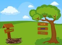 Предпосылка ландшафта для игры бесплатная иллюстрация
