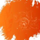 Предпосылка апельсина Grunge Стоковые Изображения RF