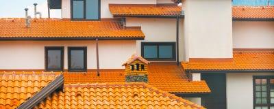 Предпосылка архитектуры дома крупного плана внешняя панорамная Стоковая Фотография RF
