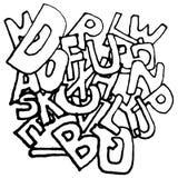 Предпосылка алфавита Стоковые Изображения