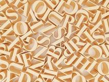 Предпосылка алфавитов Стоковая Фотография