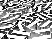 Предпосылка алфавитов Стоковая Фотография RF