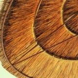 Предпосылка бамбукового зонтика пляжа Тропическое знамя праздника Стоковые Изображения