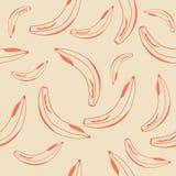Предпосылка банана безшовная Стоковые Фотографии RF