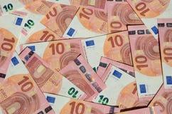 Предпосылка банкноты евро Стоковое Изображение RF