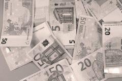 Предпосылка банкнот евро Стоковое фото RF