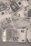 Предпосылка банкнот евро Стоковые Фотографии RF