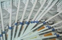 Предпосылка банкнот денег доллара США денег доллара США Стоковая Фотография